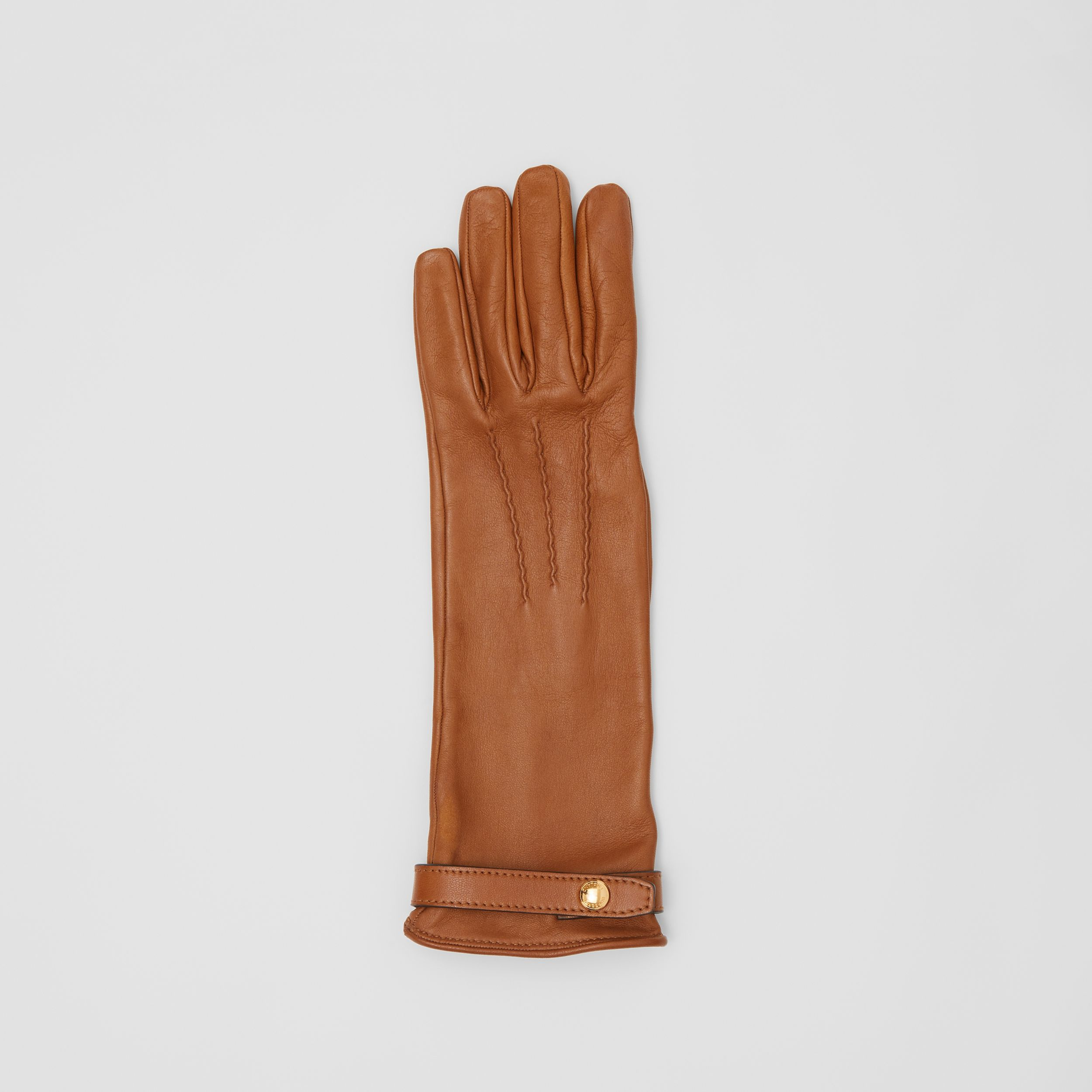 Silk-lined Lambskin Gloves in Brown | Burberry - 3