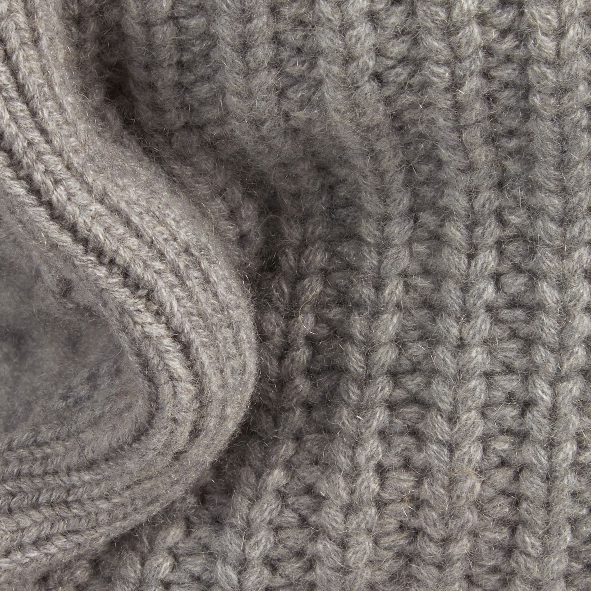 Light grey melange Knitted Cashmere Cushion Cover Light Grey Melange - gallery image 2