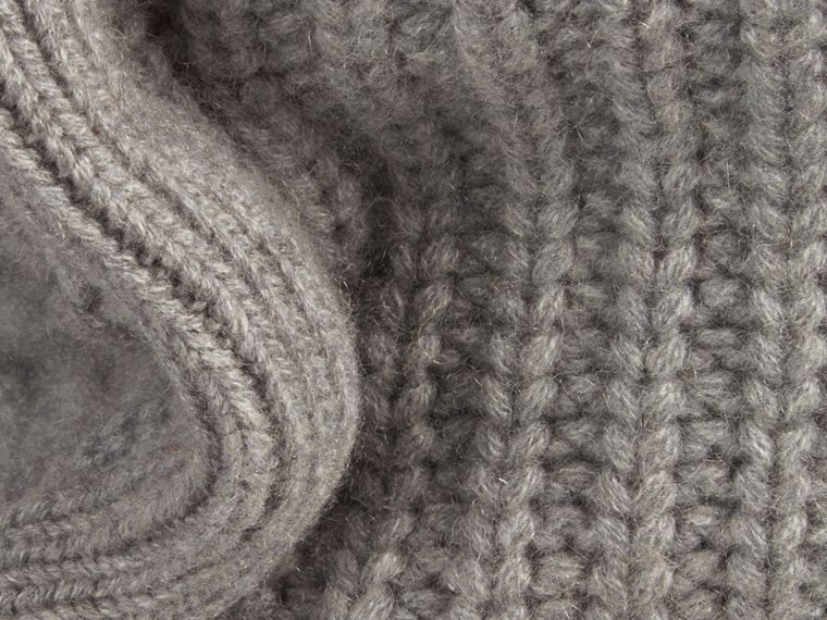 Light grey melange Knitted Cashmere Cushion Cover Light Grey Melange - cell image 1
