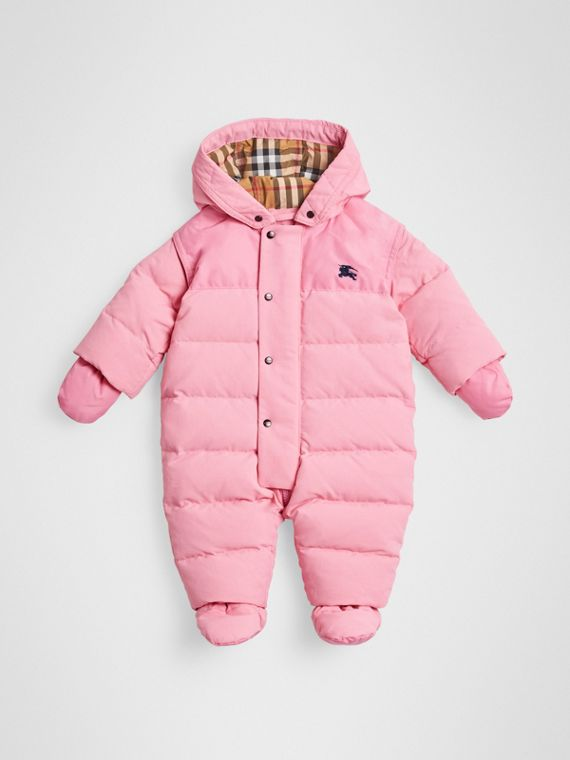 Down-filled Puffer Suit in Ice Pink