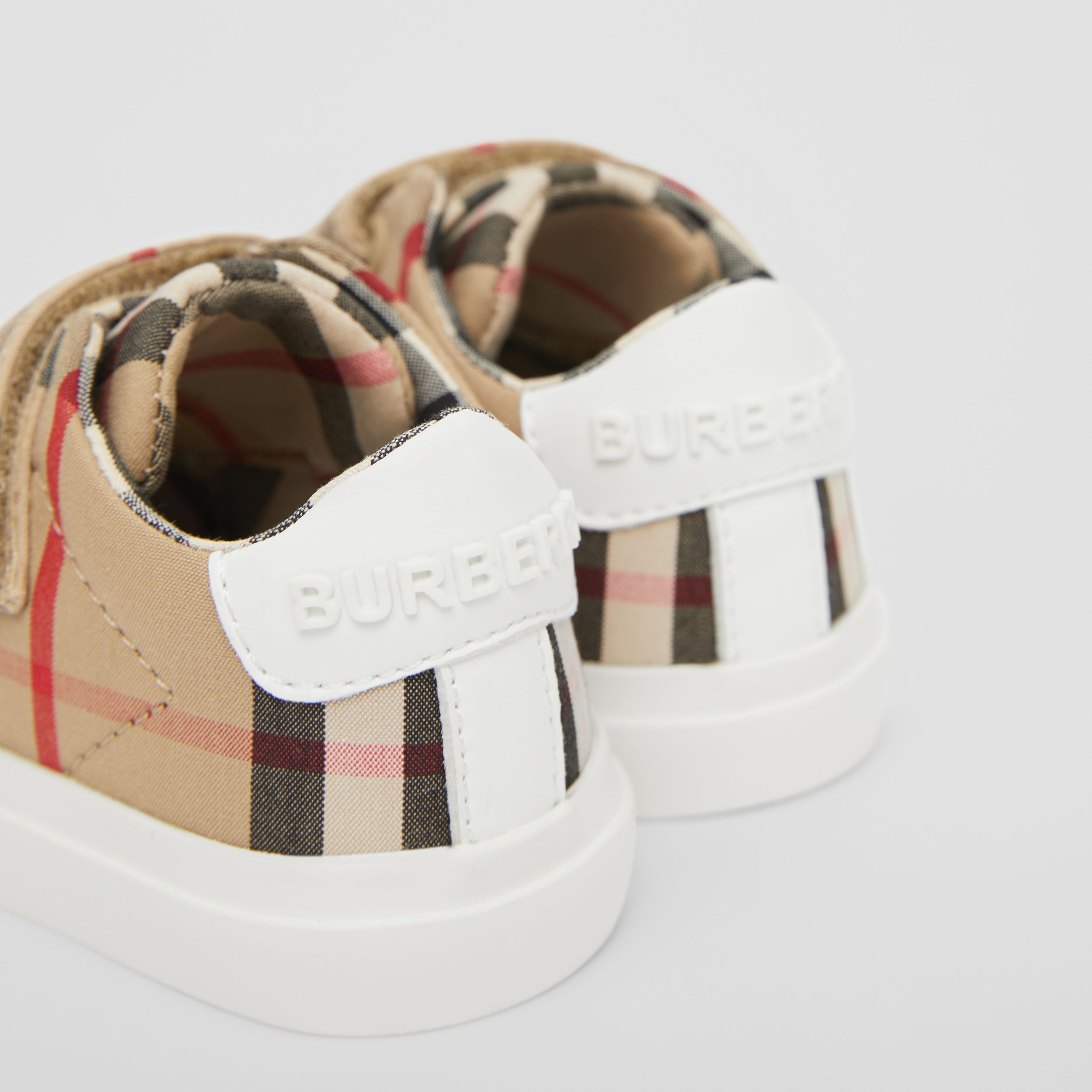 Vintage Check Cotton Sneakers in Archive Beige - Children | Burberry - 2