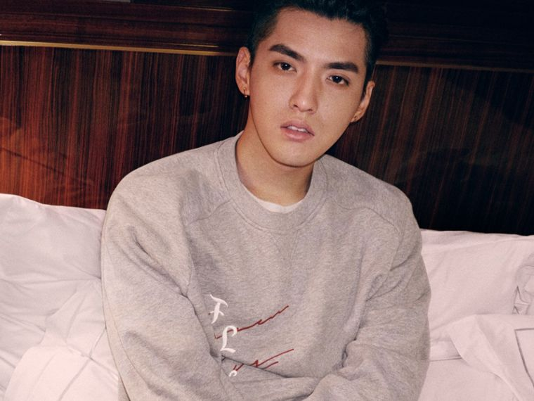 Burberry x Kris Wu Graphic Motif Sweatshirt in Pale Grey Melange - Men | Burberry United States - cell image 4