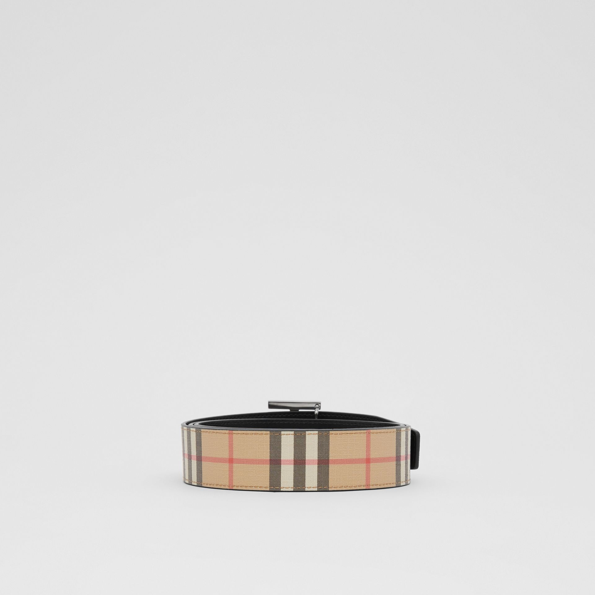 Reversible Monogram Motif Vintage Check Belt in Archive Beige - Men | Burberry - gallery image 4