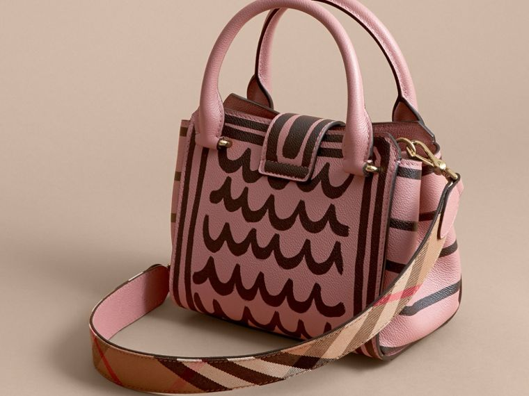 The Small Buckle Tote in Trompe L'oeil Print Leather - Women | Burberry - cell image 4