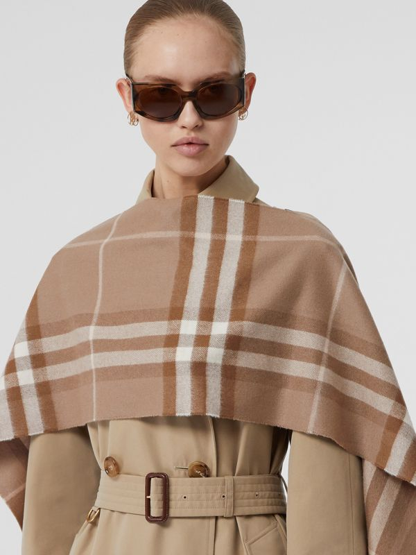 The Classic Check Cashmere Scarf in Warm Taupe | Burberry - cell image 2