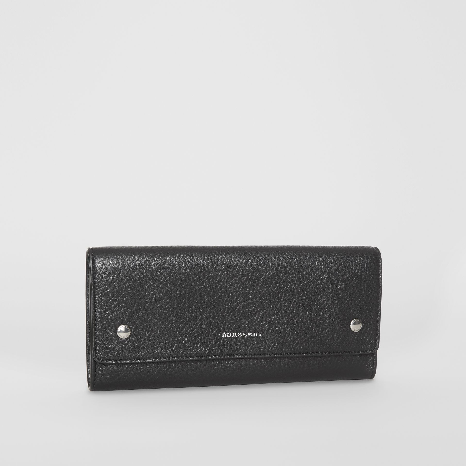 Leather Continental Wallet in Black - Women | Burberry - gallery image 4