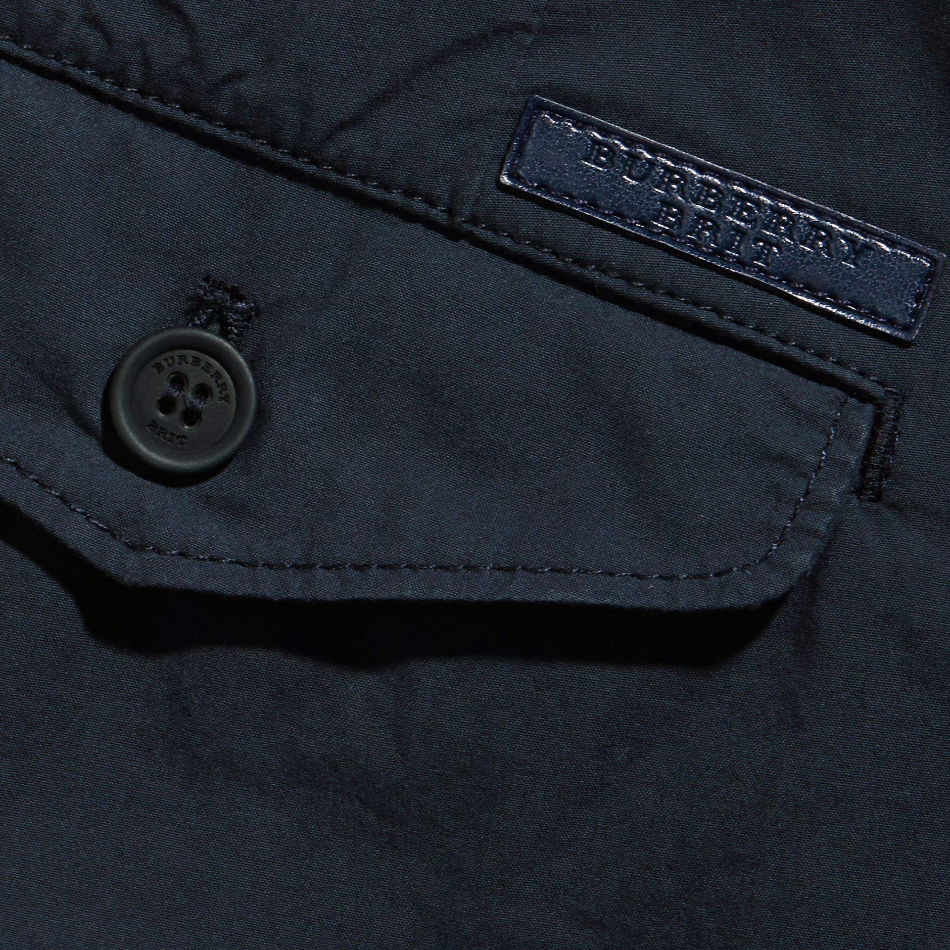 Slim Fit Cotton Poplin Chinos in Indigo - Men | Burberry Singapore - gallery image 2