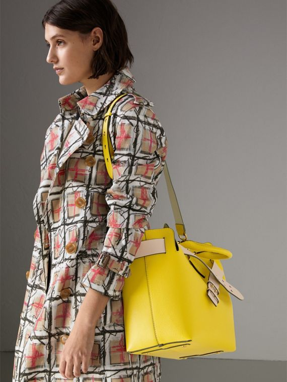 The Medium Leather Belt Bag in Bright Larch Yellow - Women | Burberry - cell image 3