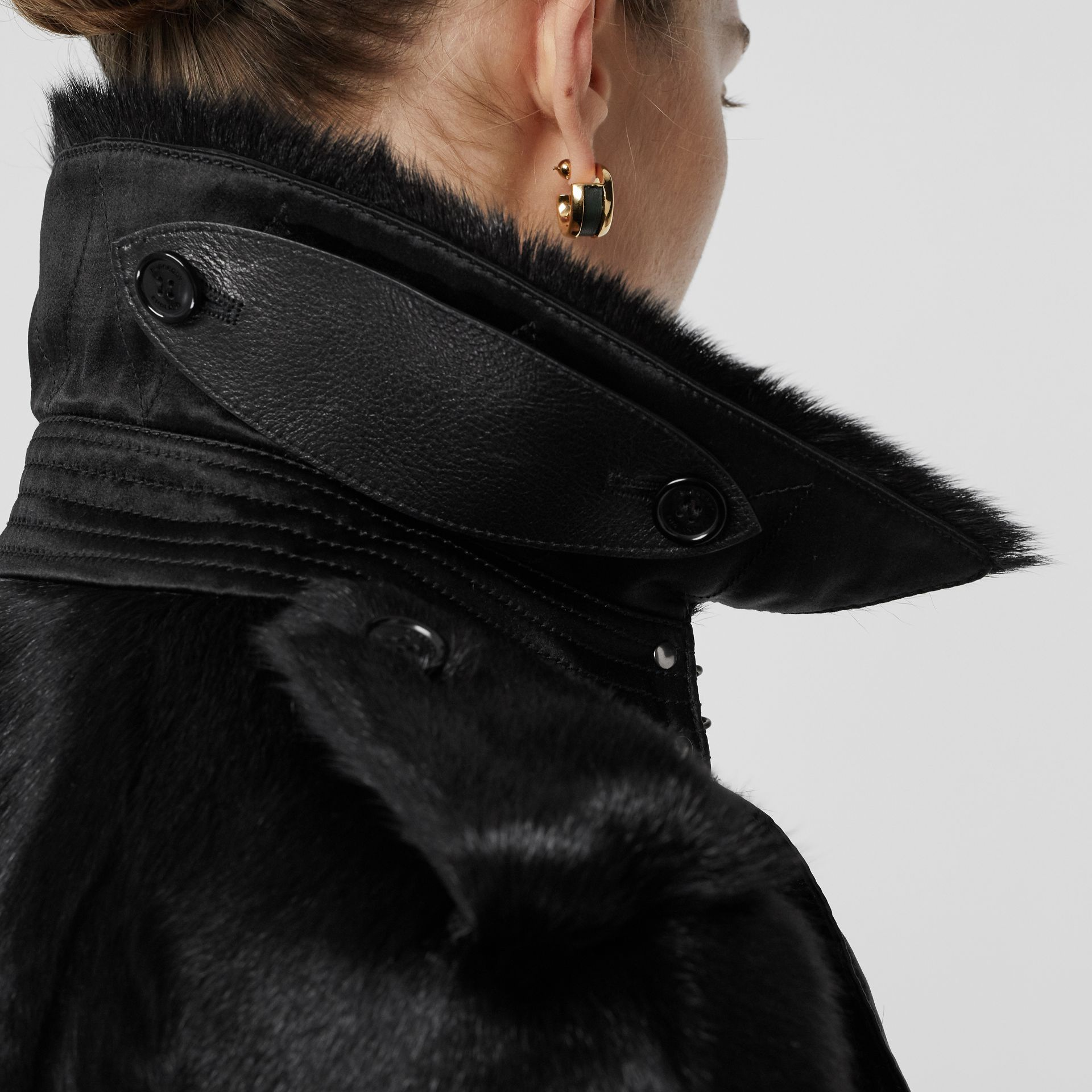 Goat Trench Coat in Black - Women | Burberry - gallery image 6