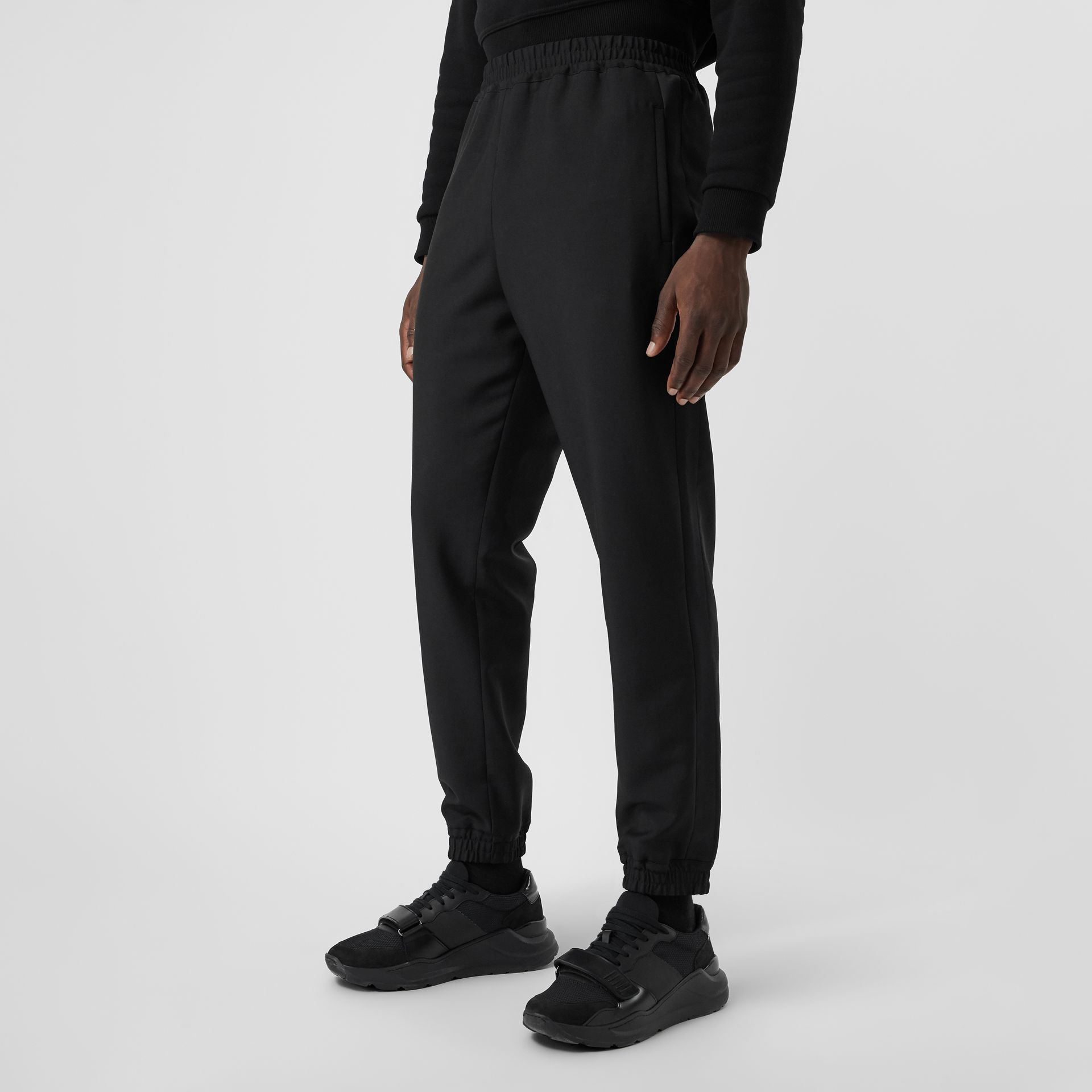 Wool Mohair Tapered Trousers in Black - Men | Burberry - gallery image 5