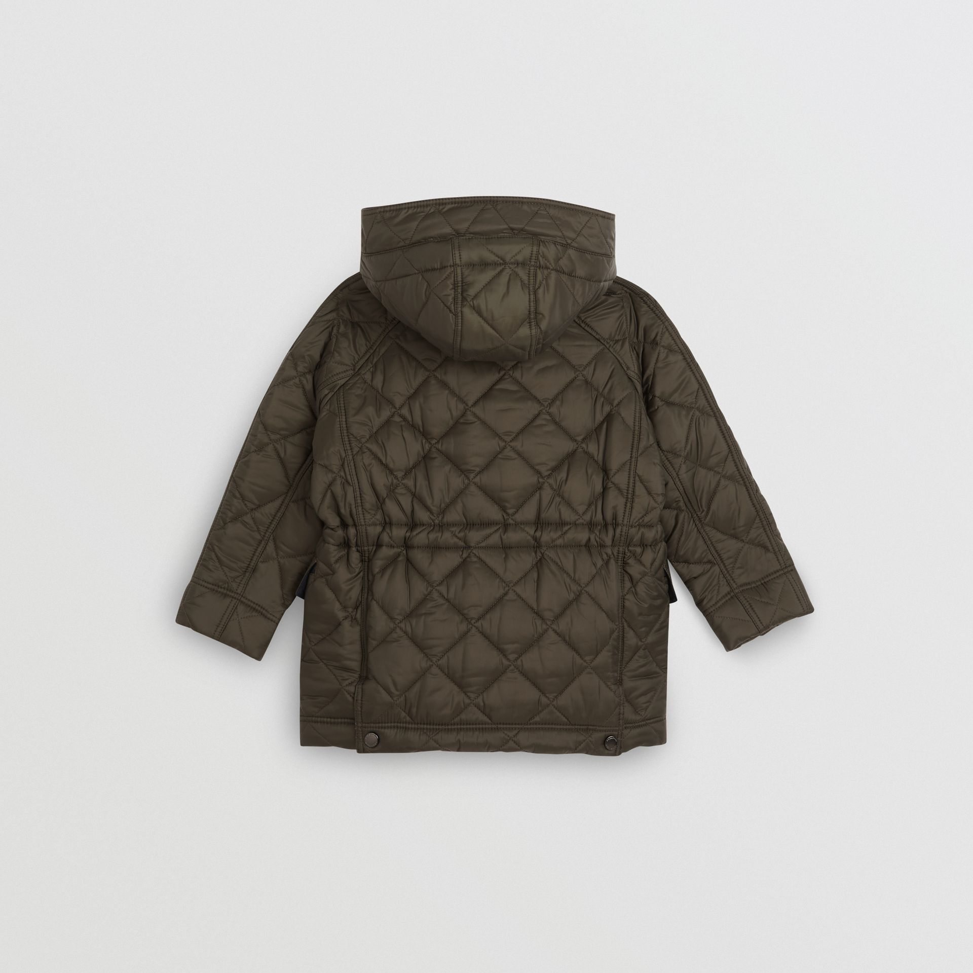 Diamond Quilted Hooded Jacket in Oregano - Boy | Burberry - gallery image 3