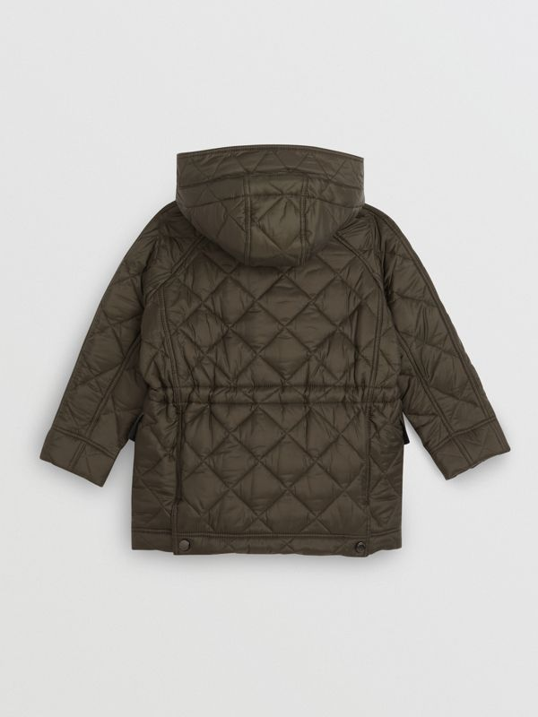 Diamond Quilted Hooded Jacket in Oregano - Boy | Burberry - cell image 3