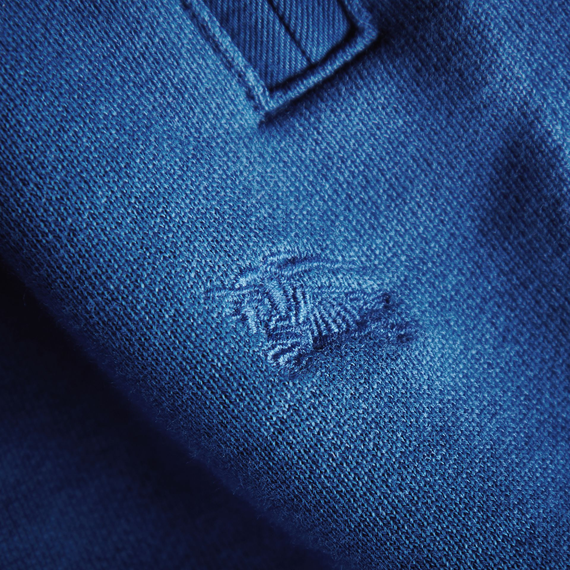 Drawcord Cotton Sweatpants in Marine Blue | Burberry - gallery image 2