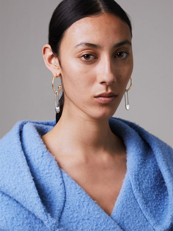 Créoles plaquées or et palladium avec épingles à kilt (Clair/palladio) - Femme   Burberry Canada - cell image 2