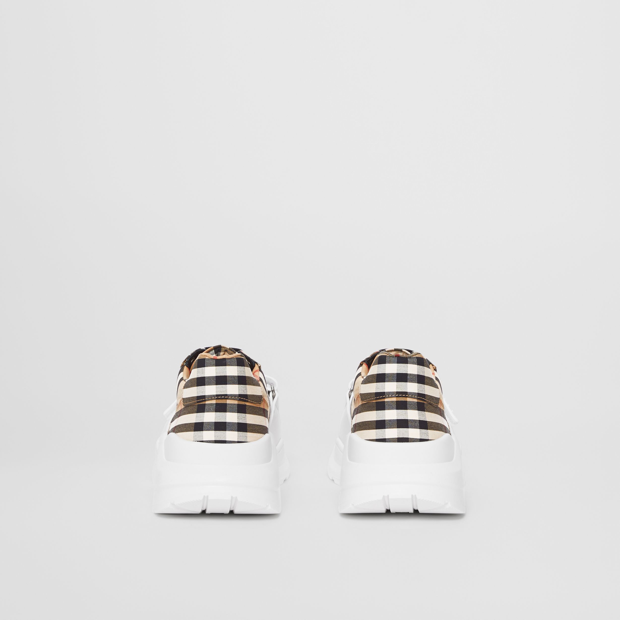 Vintage Check Cotton Sneakers in Archive Beige - Men | Burberry - 4