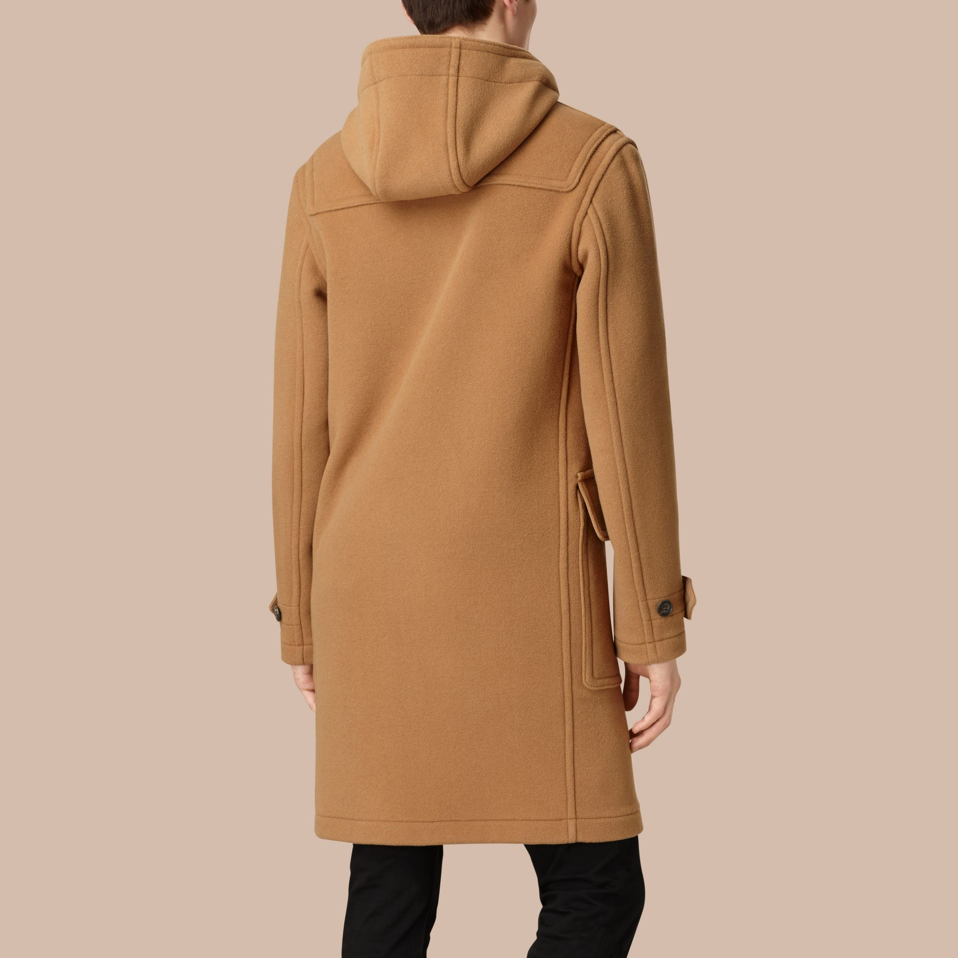 Camel Wool-Blend Duffle Coat Camel - gallery image 3