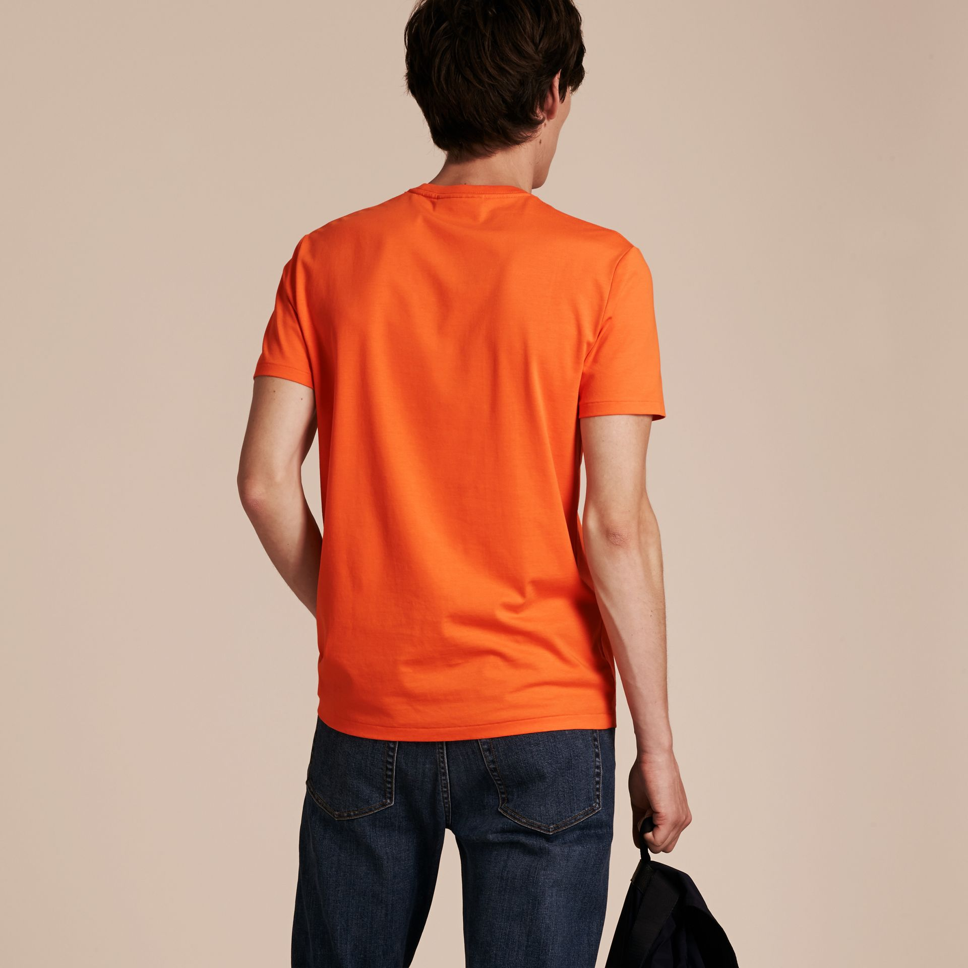 Liquid-soft Cotton T-Shirt Clementine - gallery image 3