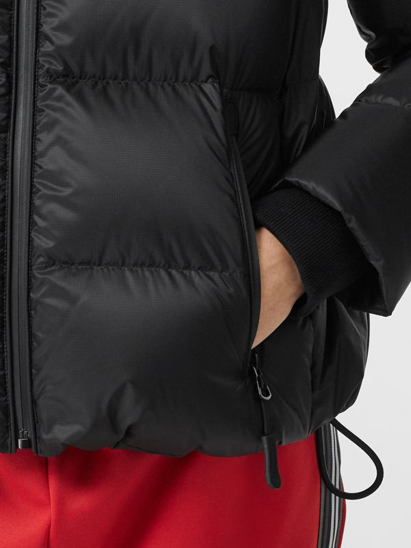 Logo Graphic Hooded Puffer Jacket in Black - Women | Burberry United Kingdom - cell image 3