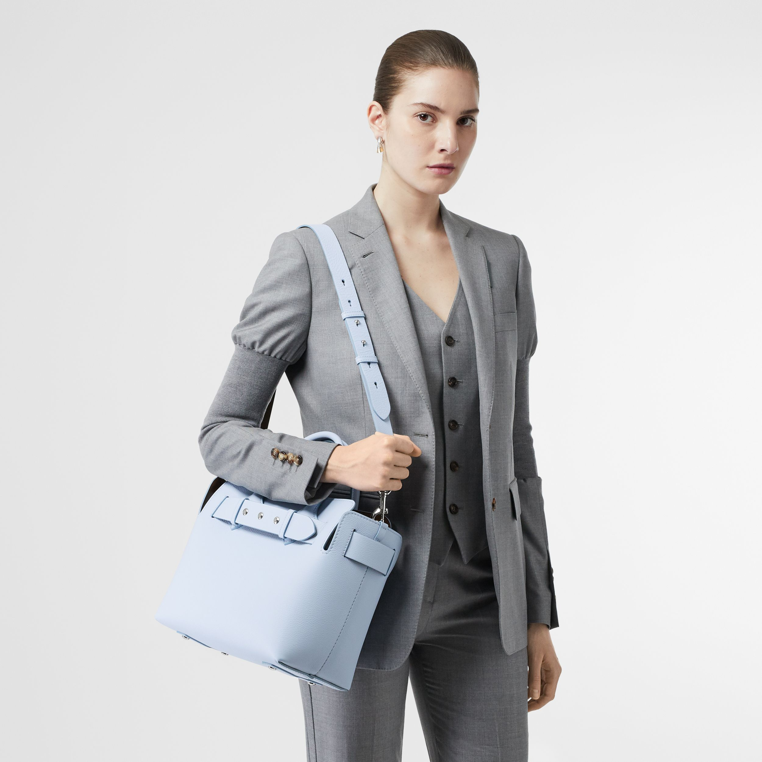 The Small Leather Triple Stud Belt Bag in Pale Blue - Women | Burberry - 3