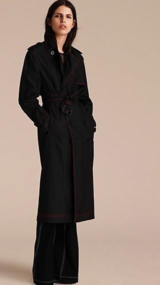 Trench coat leggero in seta e lana
