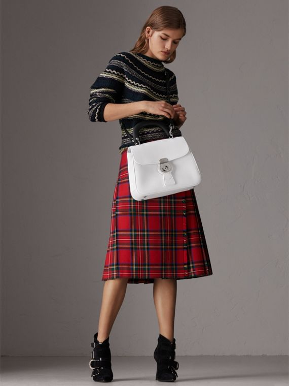 The Medium DK88 Top Handle Bag in Chalk White - Women | Burberry United Kingdom - cell image 2
