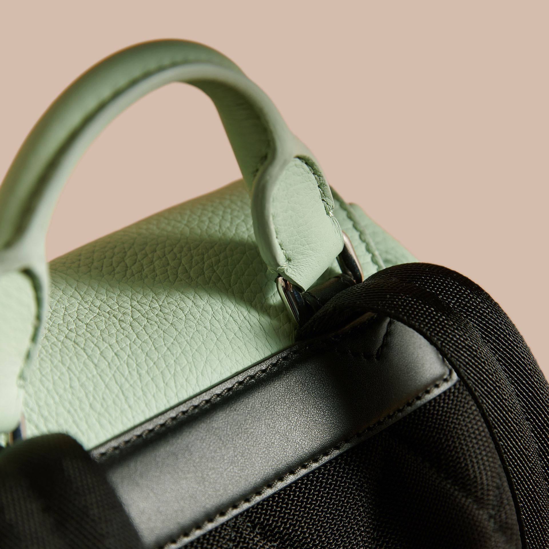 The Medium Rucksack in Deerskin with Resin Chain in Spearmint - Women | Burberry Hong Kong - gallery image 6
