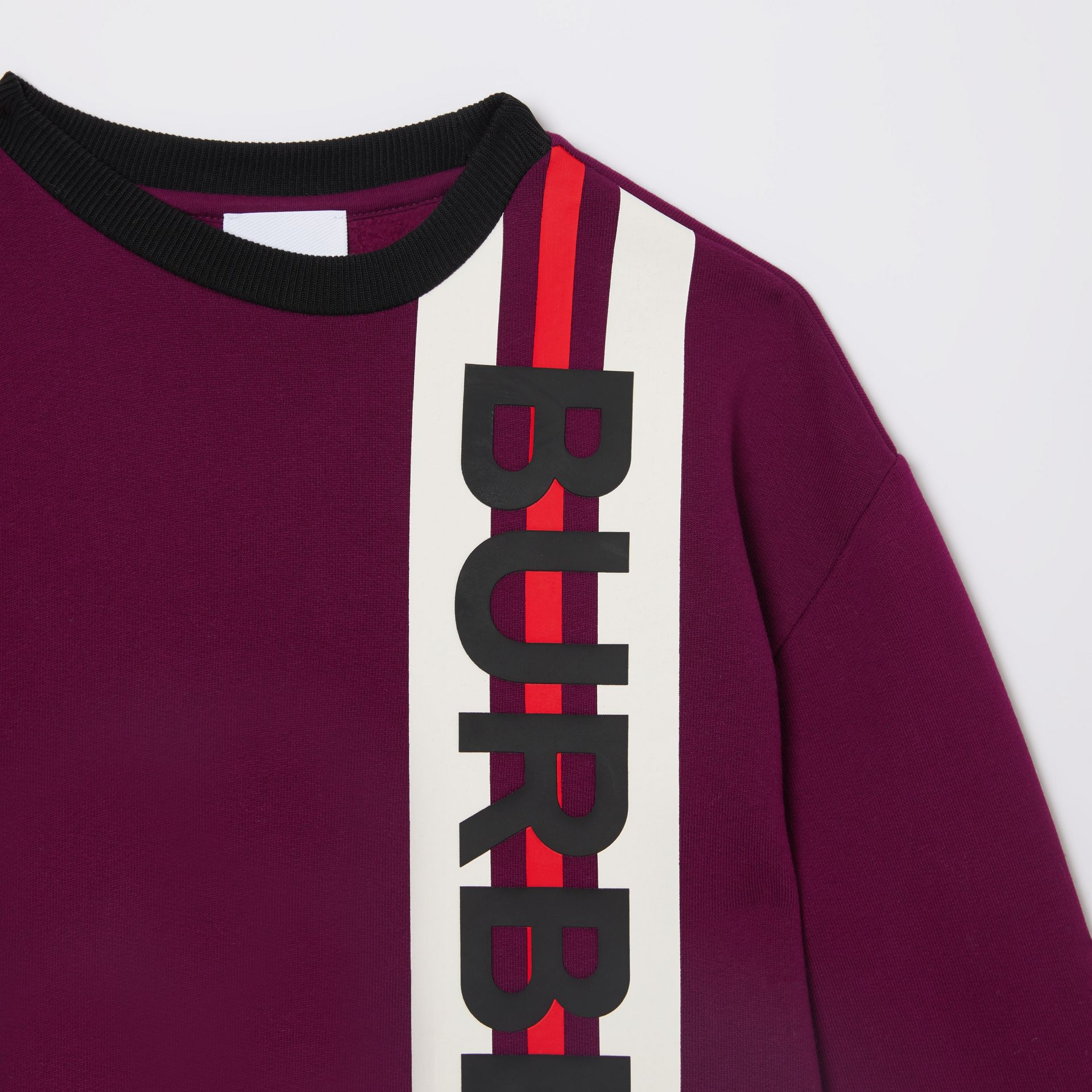 Logo Print Jersey Sweater Dress in Burgundy | Burberry Singapore - gallery image 4