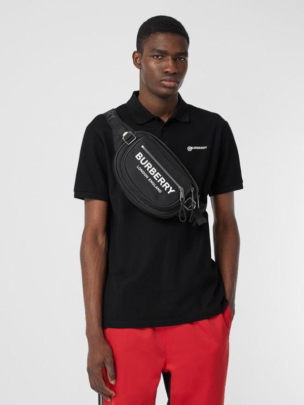 Medium Logo Print ECONYL® Cannon Bum Bag in Black - Men | Burberry United Kingdom - cell image 3