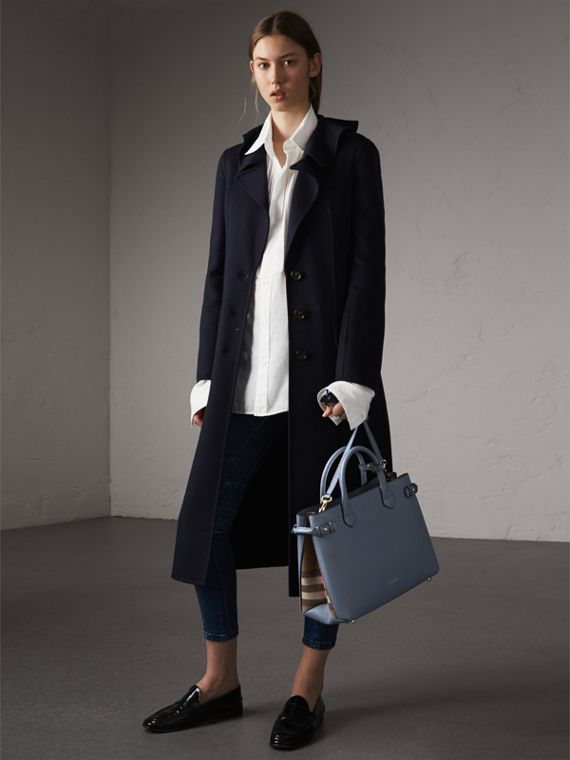 The Medium Banner aus Leder und House Check-Gewebe (Schieferblau) - Damen | Burberry - cell image 2