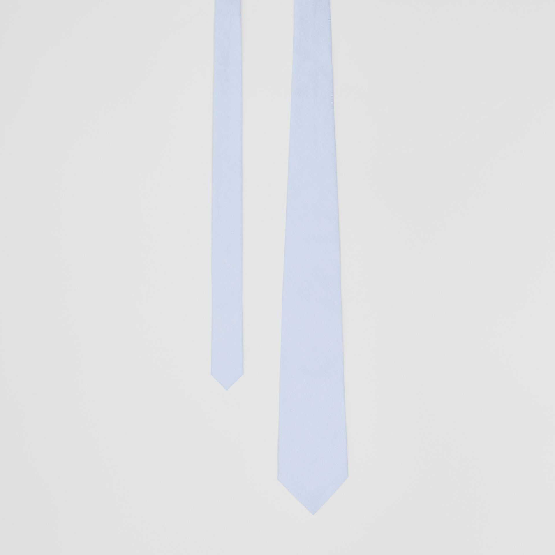 Classic Cut Cotton Tie in Pale Blue | Burberry - gallery image 0