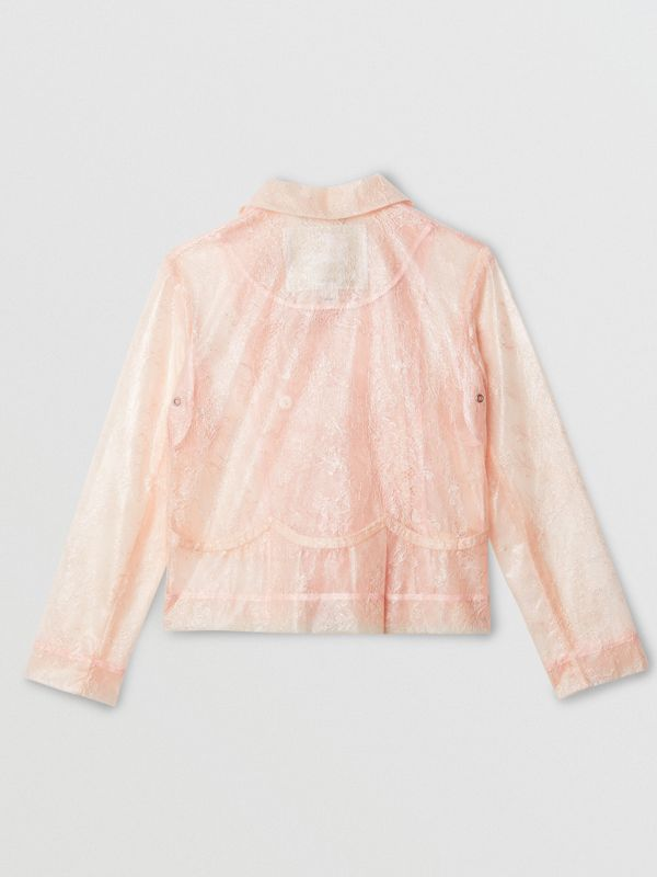 Laminated Lace Jacket in Pale Pink | Burberry - cell image 3