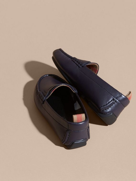 Navy Leather Loafers - cell image 3