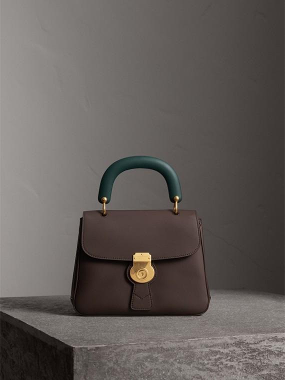 The Medium DK88 Top Handle Bag in Dark Chocolate