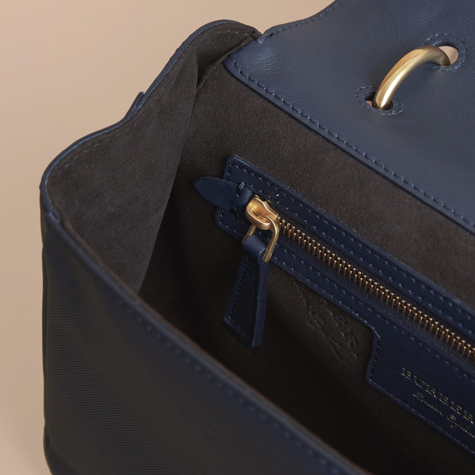 The Medium DK88 Top Handle Bag Ink Blue - gallery image 6