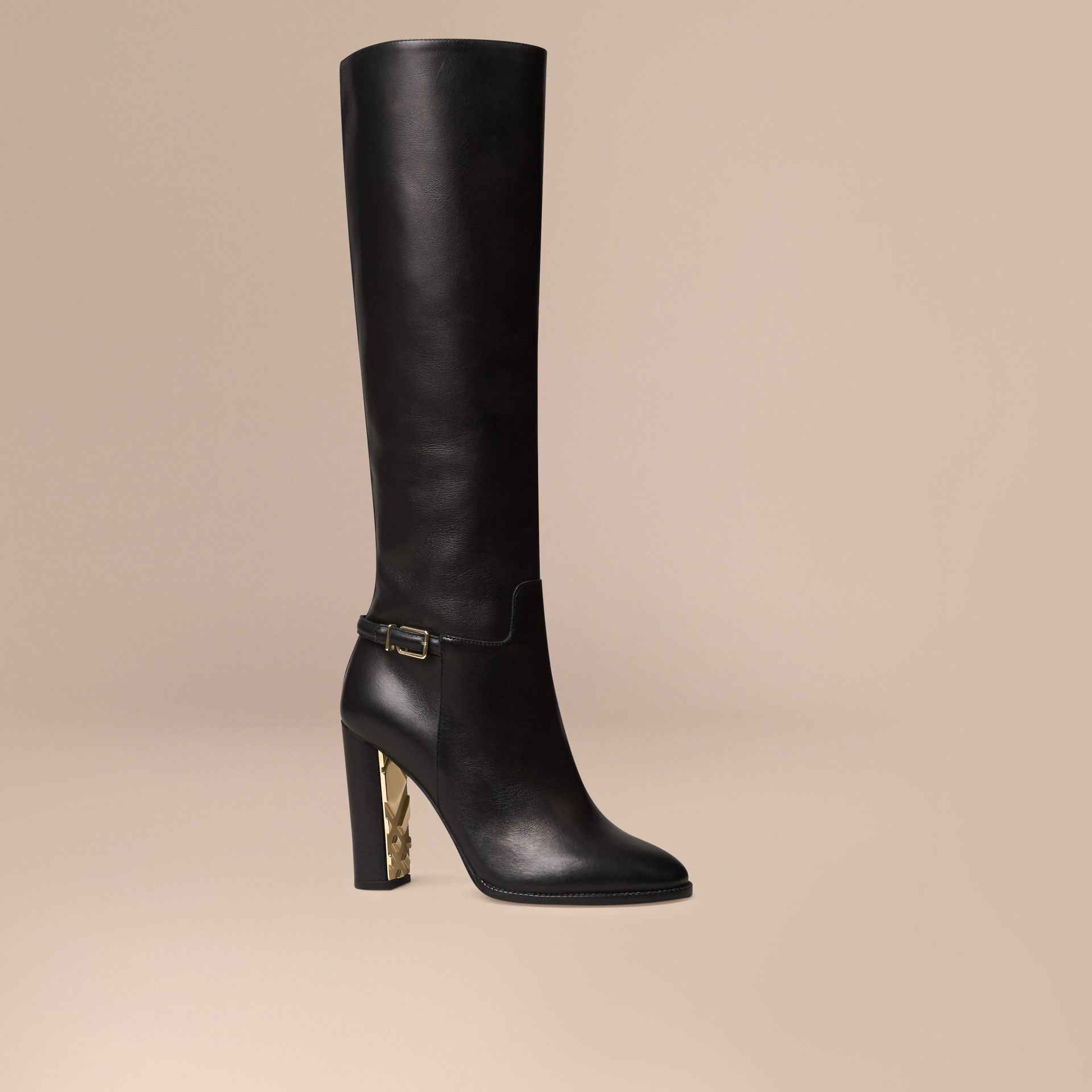Knee-high Leather Boots - Women | Burberry - gallery image 1