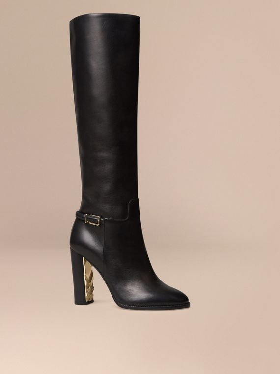 Knee-high Leather Boots - Women | Burberry