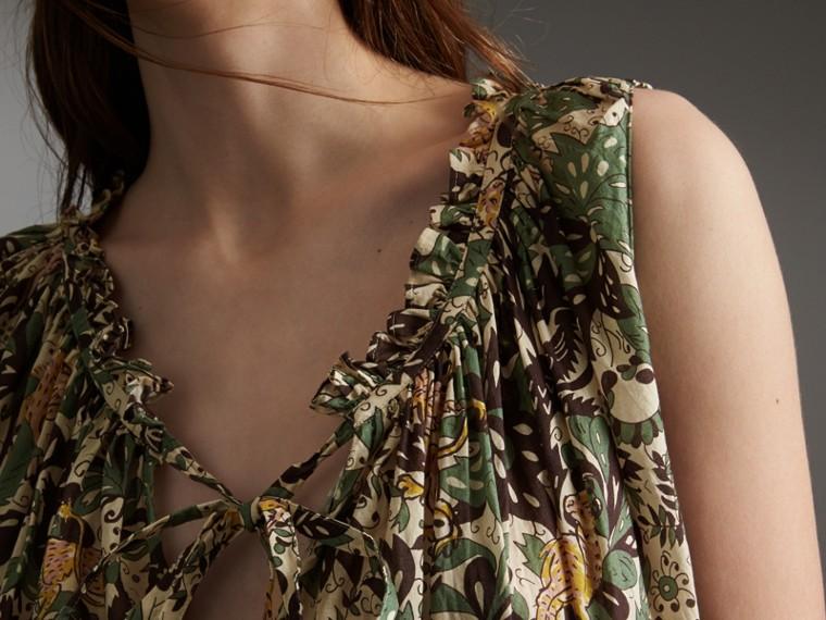Sleeveless Beasts Print Lightweight Cotton Top - Women | Burberry - cell image 4