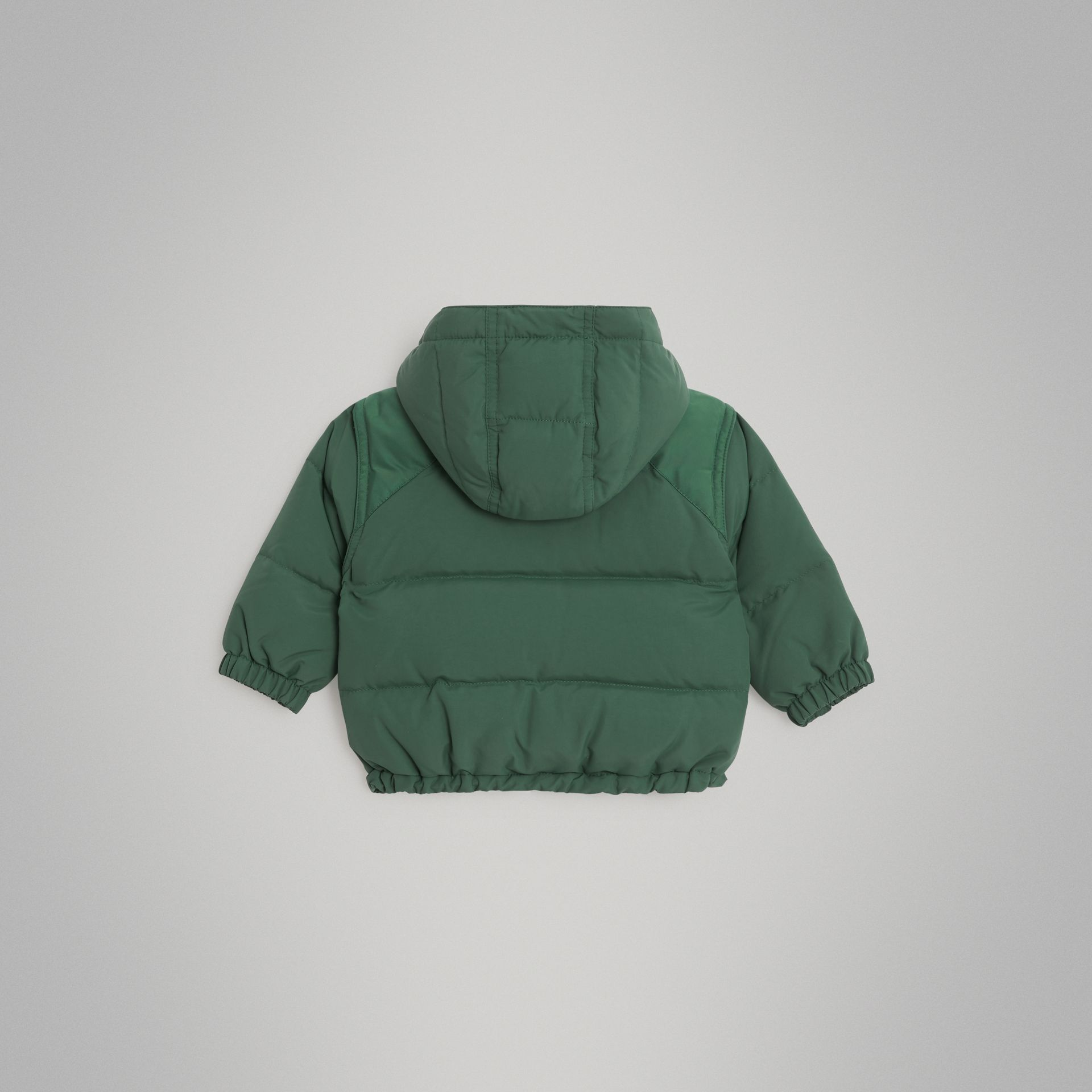Down-filled Hooded Puffer Jacket in Veridian Green - Children | Burberry United Kingdom - gallery image 3
