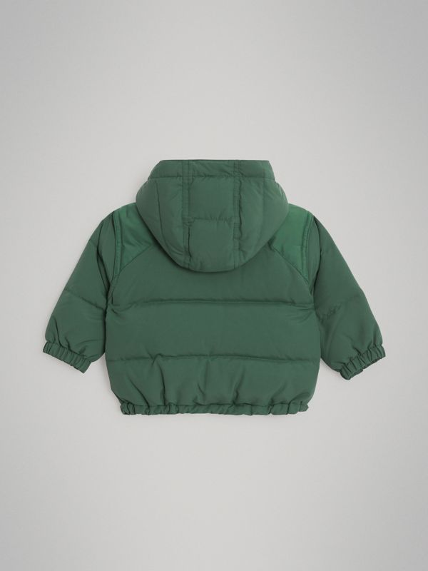 Down-filled Hooded Puffer Jacket in Veridian Green - Children | Burberry United Kingdom - cell image 3