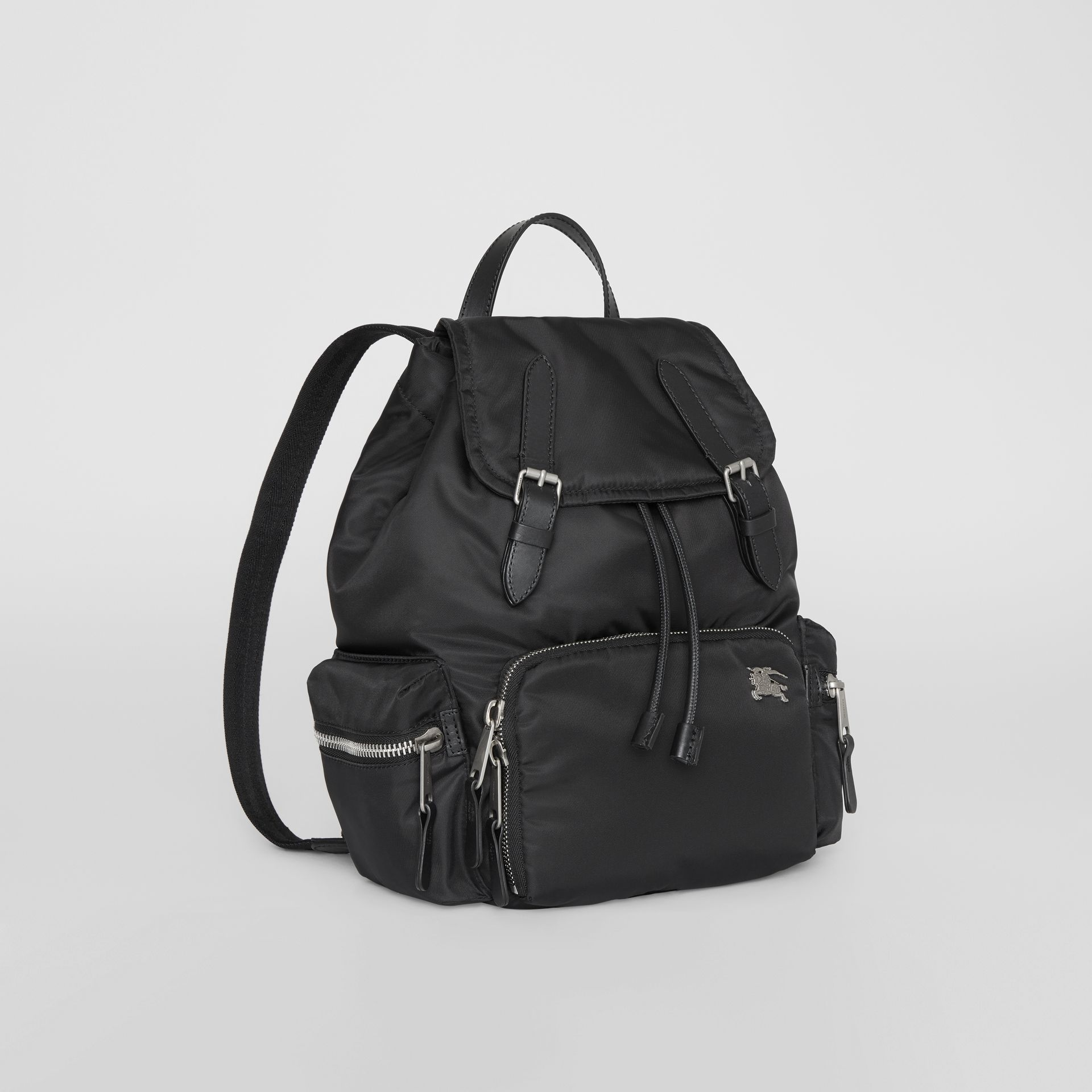 Sac The Rucksack moyen en nylon et cuir (Noir) - Femme | Burberry - photo de la galerie 6