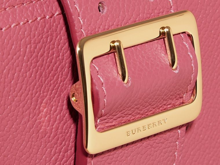 Buckle Detail Grainy Leather Wallet in Pink Azalea - cell image 1