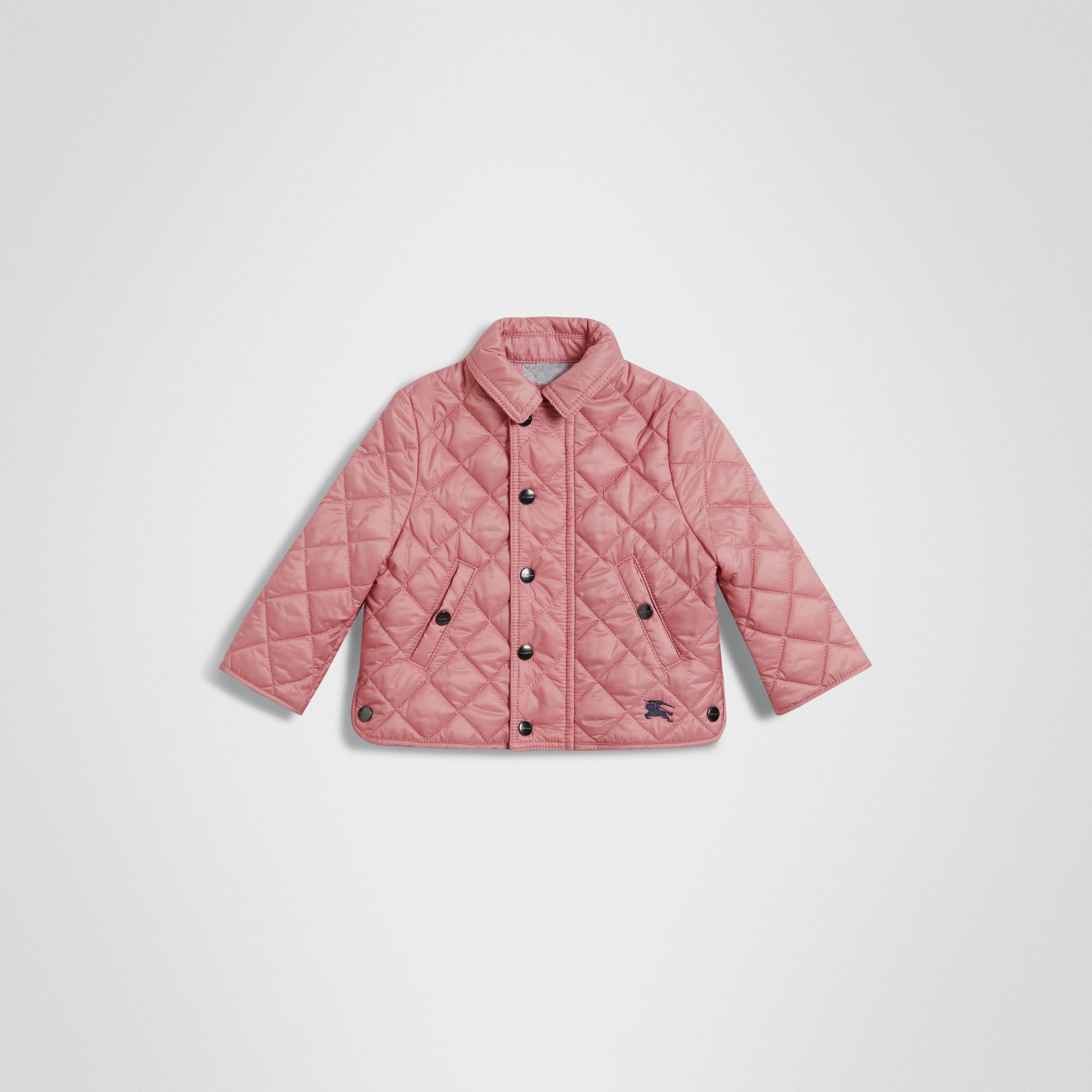 Lightweight Diamond Quilted Jacket in Pale Ash Rose - Children | Burberry United States - gallery image 0