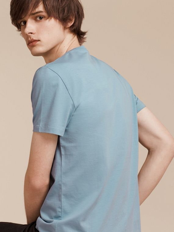 Pale blue Liquid-soft Cotton T-Shirt Pale Blue - cell image 2