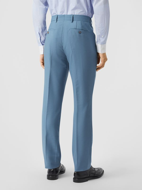 Classic Fit Mohair Wool Tailored Trousers in Steel Blue - Men | Burberry United Kingdom - cell image 2