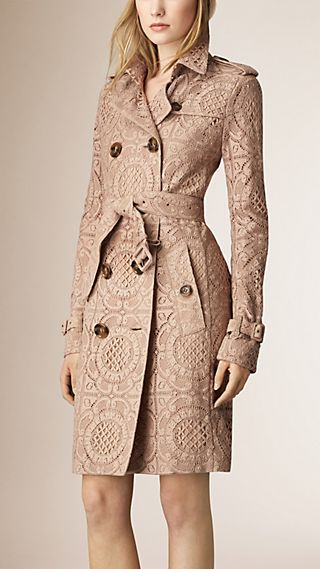 English Lace Trench Coat