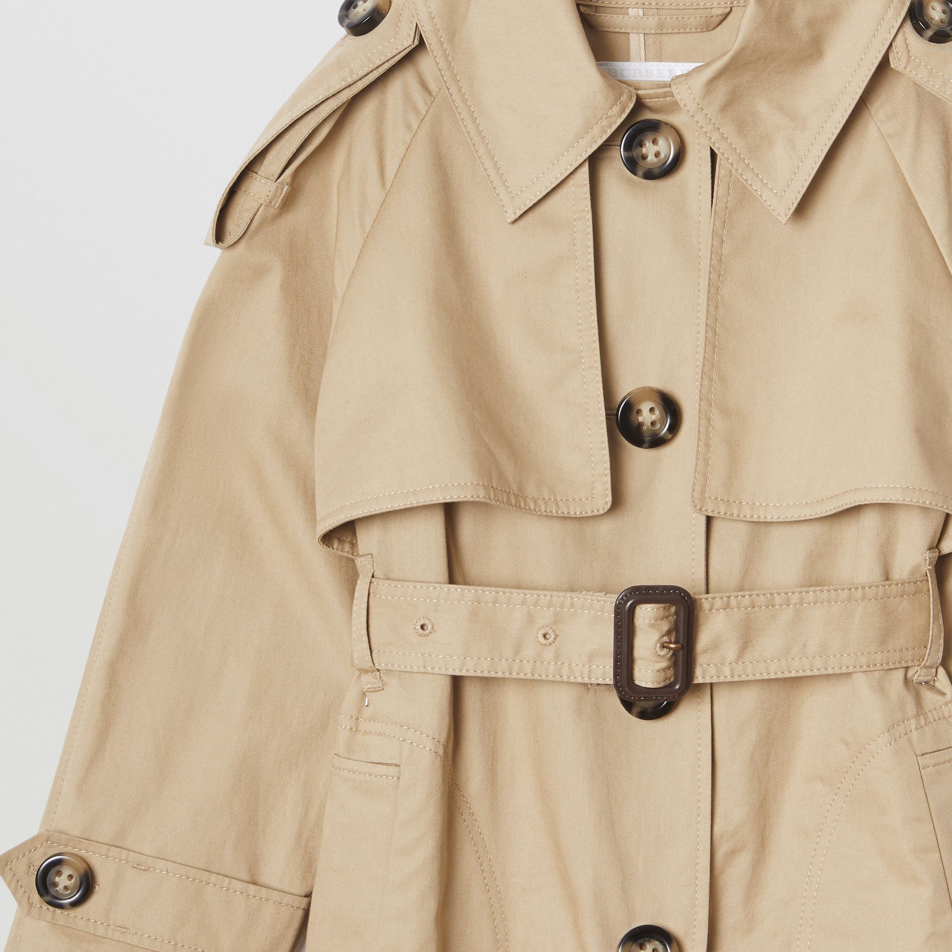 Cotton Trench Jumpsuit in Honey | Burberry - gallery image 5