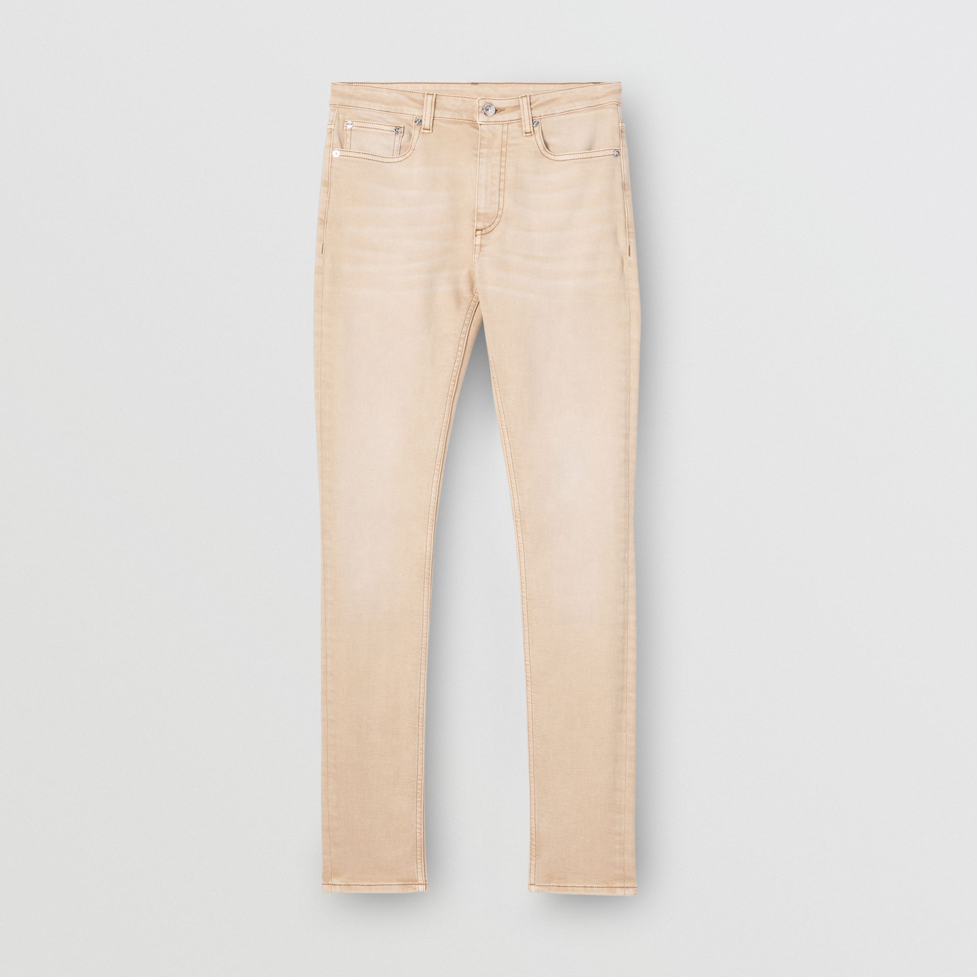 Skinny Fit Washed Japanese Denim Jeans in Honey - Women | Burberry United Kingdom - gallery image 3