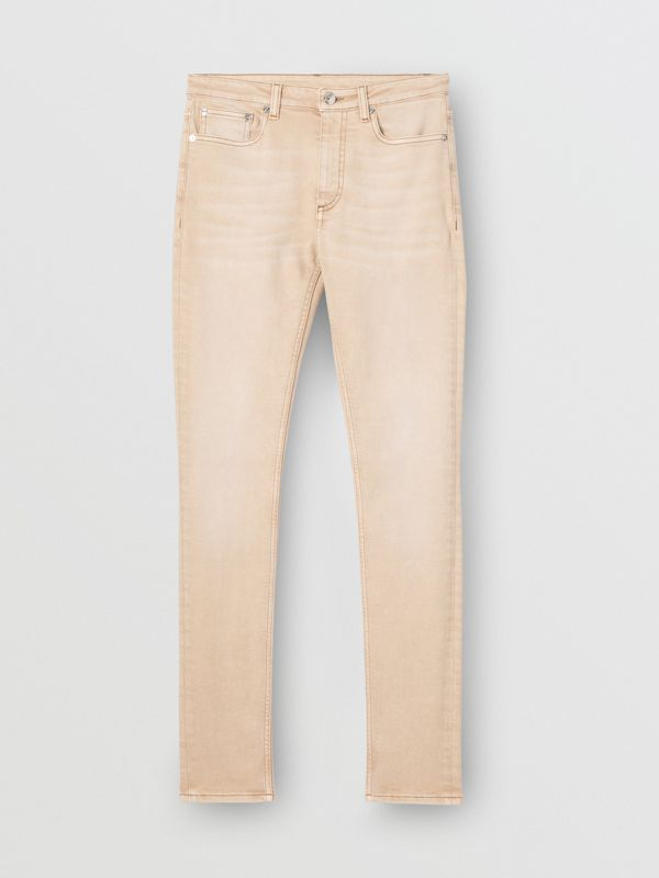 Skinny Fit Washed Japanese Denim Jeans in Honey - Women | Burberry United Kingdom - cell image 3