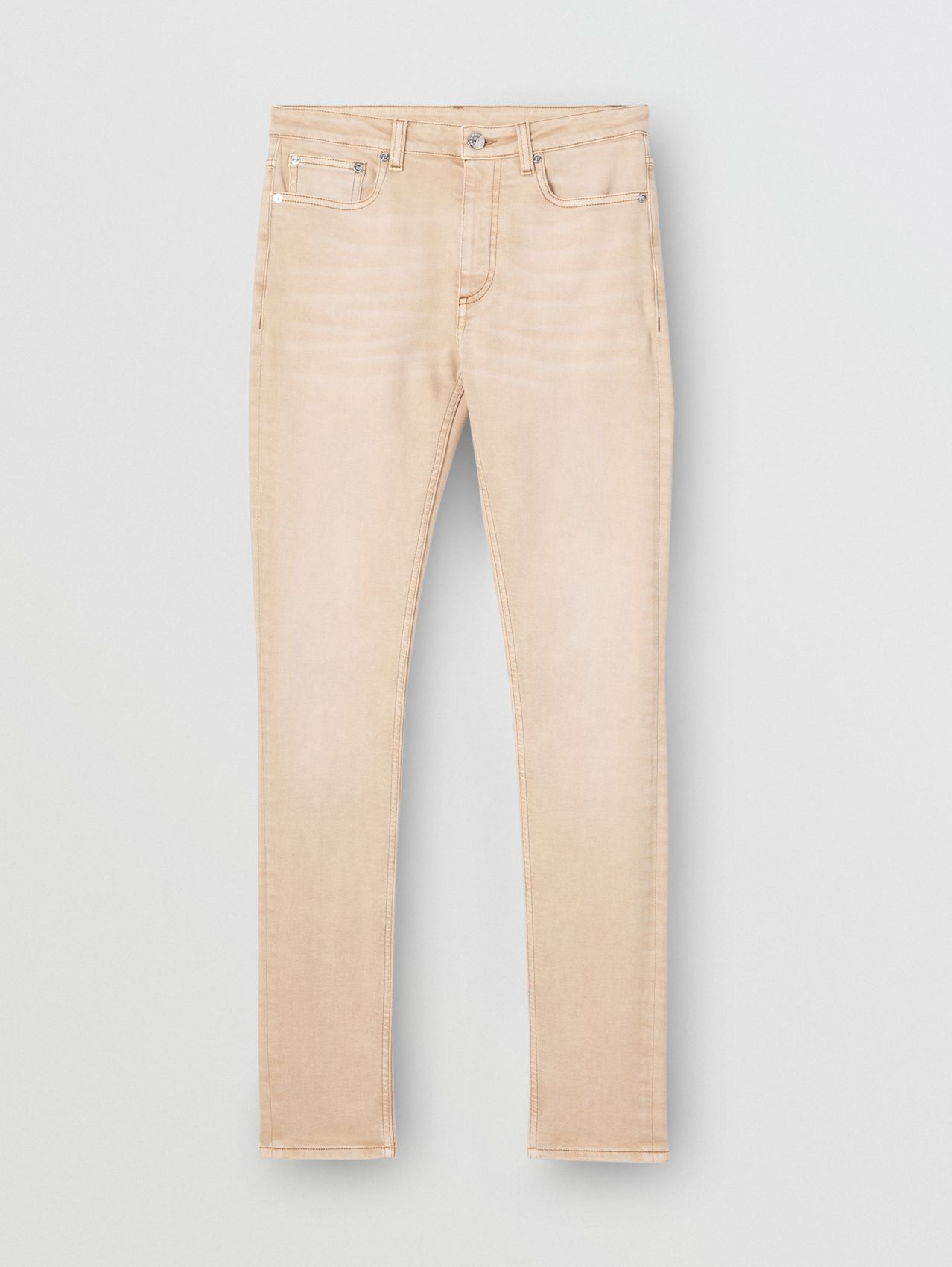 Skinny Fit Washed Japanese Denim Jeans in Honey