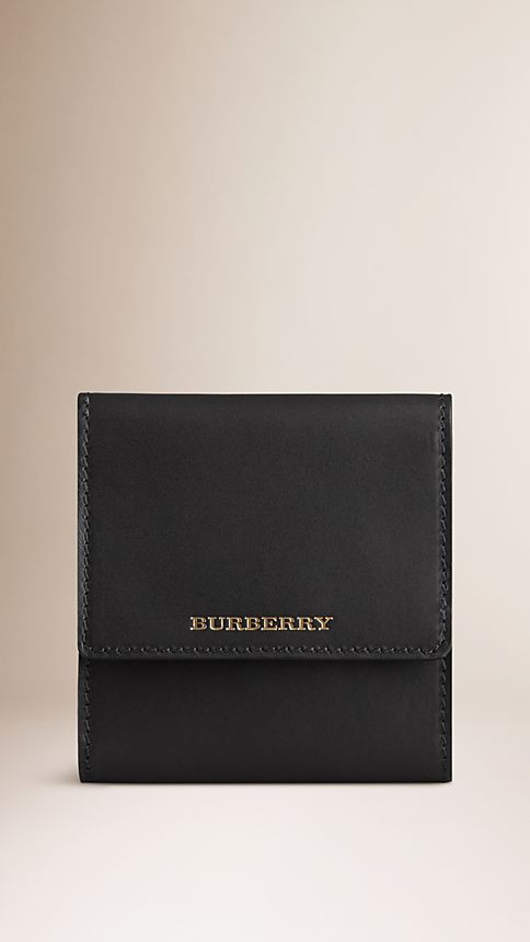 Black Sartorial Leather Cufflink Travel Case - Image 1